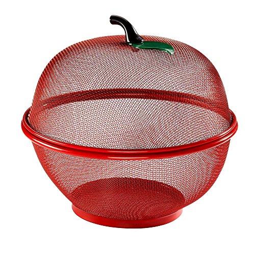 Apple Shaped Dish - Apple-Shaped Fruit Basket, Mesh Fruit Shaped Bowl, Modern Contemporary Basket thas is Apple-Shaped & E-Book