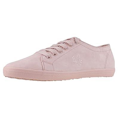KINGSTON B3314W Pink und Grün Mikrofaser. Sportschuhe Damen. Sneaker (39 EU, Rose Dust) Fred Perry