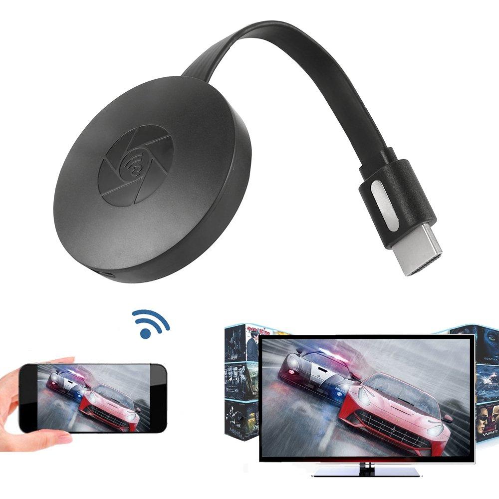 Wrighteu 2018 Mini Inalámbrico Wifi Visualización Dongle HDMI 1080P TV Digital Miracast Airplay DLNA Conversor Adaptador Soporte Google Chapado en Cromo de ...