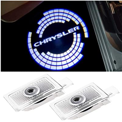 CHANONE Car Door LED Logo Projector Lights Welcome Ghost Shadow Courtesy Step Lamp for Chrysler 200 300 Sebring Series (Pack of 2): Automotive [5Bkhe0918956]
