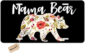 Tobe Yours License Plate Cover Mama Bear Printed Auto Truck Car Front Tag Personalized Metal License Plate Frame Cover Beagle 6x12
