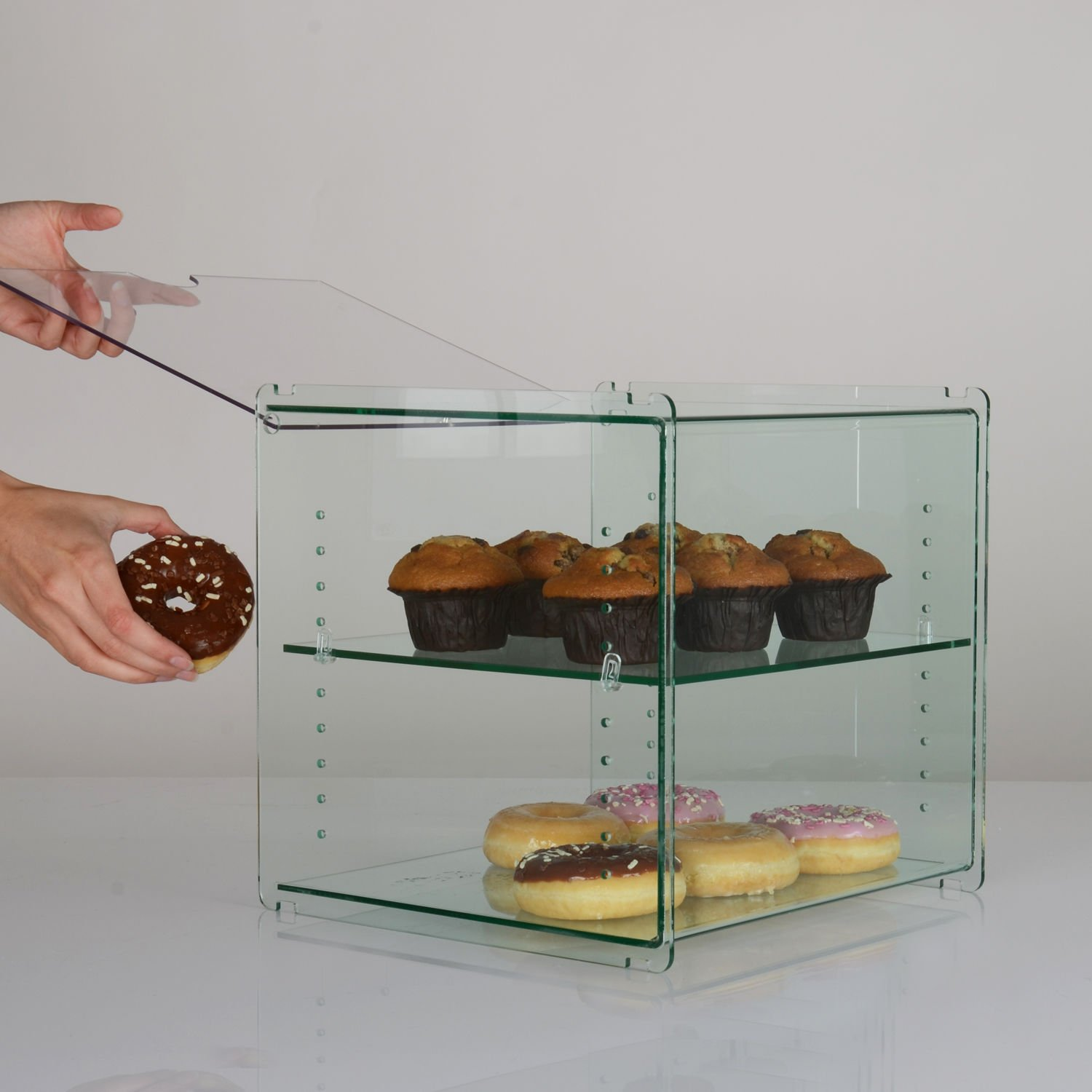 Stackable Bakery Cake Cafe Food Counter Display Case Cabinet Amazoncouk