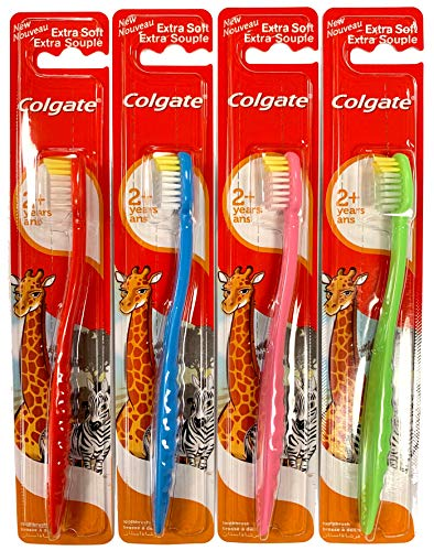 Colgate Kids Toothbrush for 2+ Years Extra Soft Bristles Assorted Colors and Packs