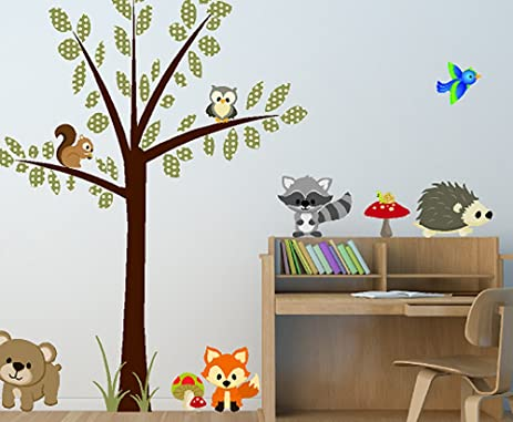 Marvelous Woodland Creatures Forest Animal Wall Decals