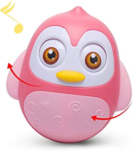 Alyoen Music Wobbler Baby Toys 6 to 12 Months, Penguin Roly Poly Tumbler Toys for Infant Boys Girls