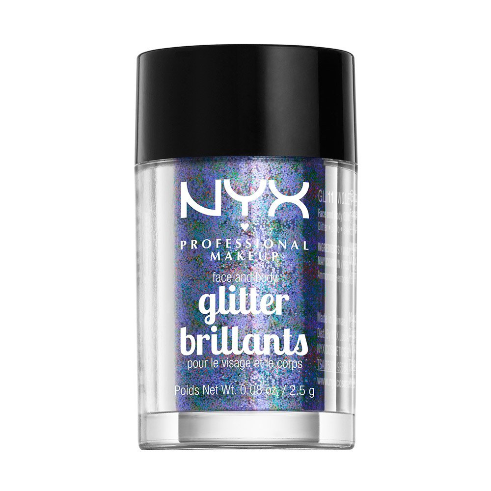 NYX PROFESSIONAL MAKEUP Face & Body Glitter, Blue, 0.08 Ounce