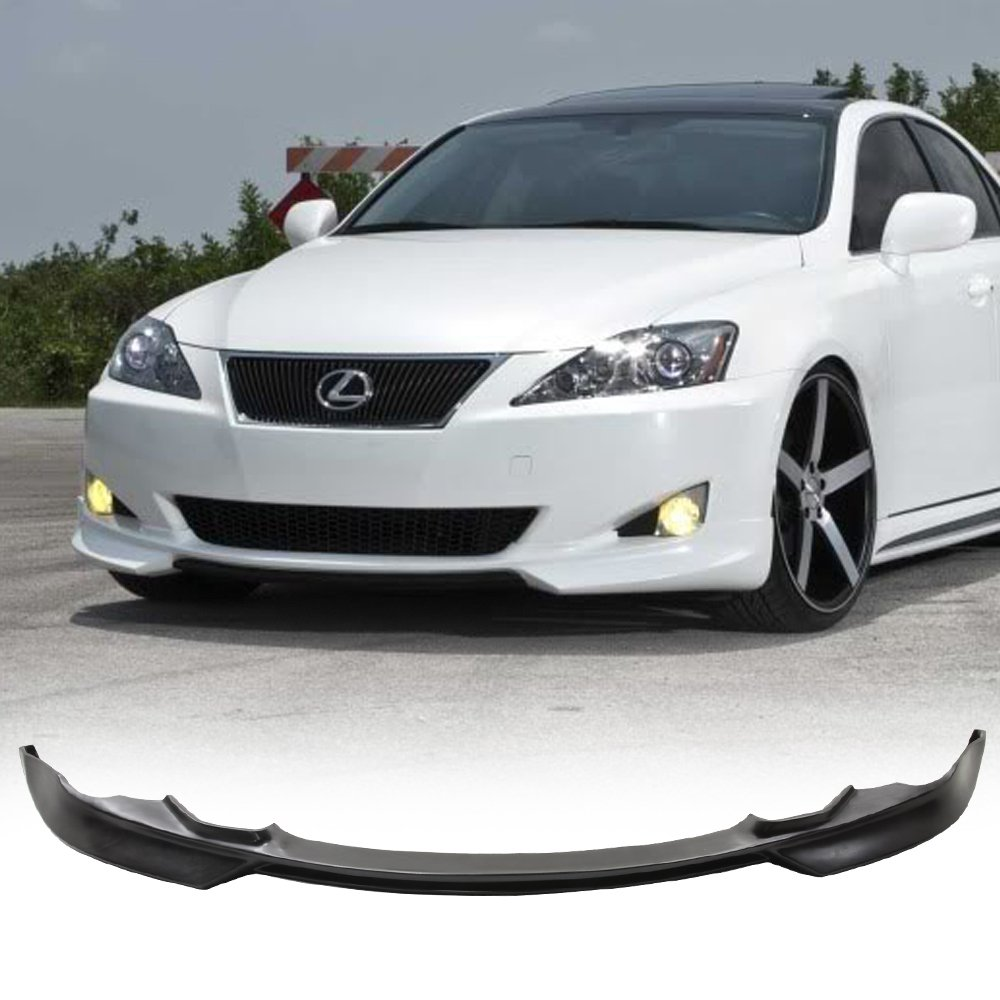 Front Bumper Lip Fits 2006-2008 LEXUS IS250 & IS350 | Ikon Style PU Black Front Lip Spoiler Splitter Air Dam Chin Diffuser Add On by IKON MOTORSPORTS | 2007