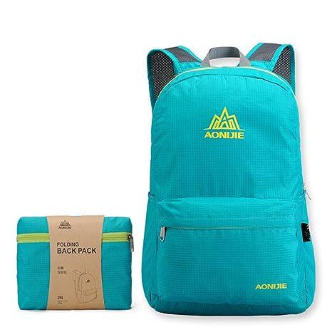 AONIJIE plegable mochila de nylon impermeable bolsas de escuela al aire libre deporte camping senderismo,