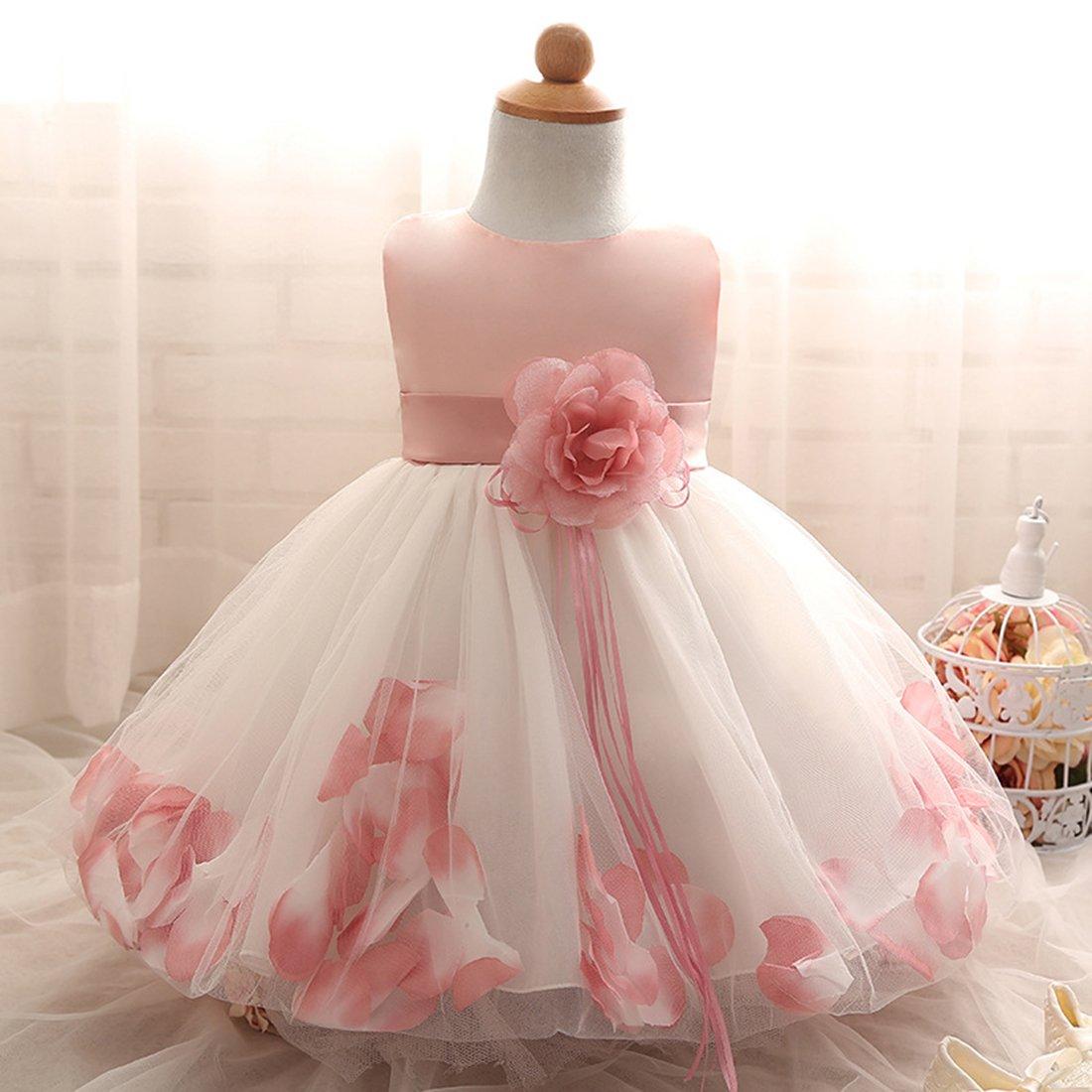 ADHS - Blanco/Rosado Vestido de princesa para recién de nacido ...