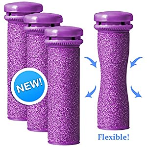 Emjoi Micro-Pedi SoftFLEX Technology Refill Rollers (Xtreme Coarse) - Pack of 4