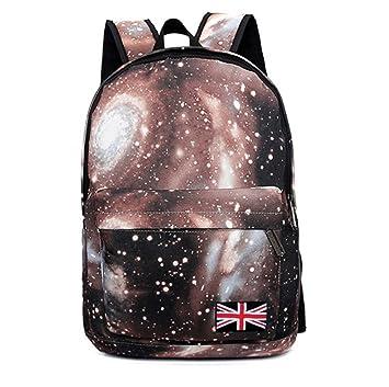 Mochila Escolar con Estampado de Galaxia, Beauty DIY Mart Backpack Bolsos de Ordenador Negocio Deporte Viaje Infantiles Portátiles 17 Pulgadas de Lona ...