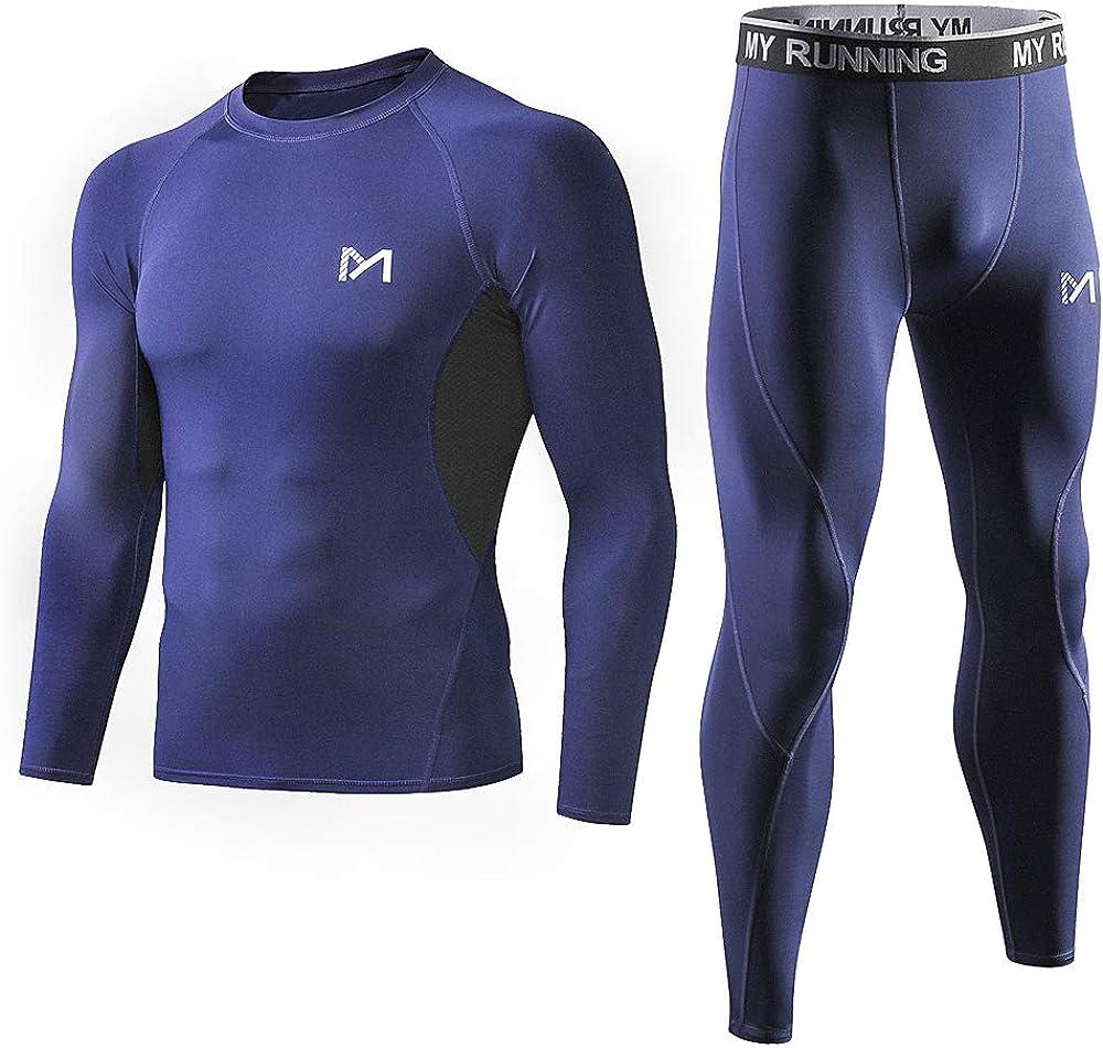 2pcs Mens Athlete Leggings Cold Gear Base Layer Tight Legging Compression Pants