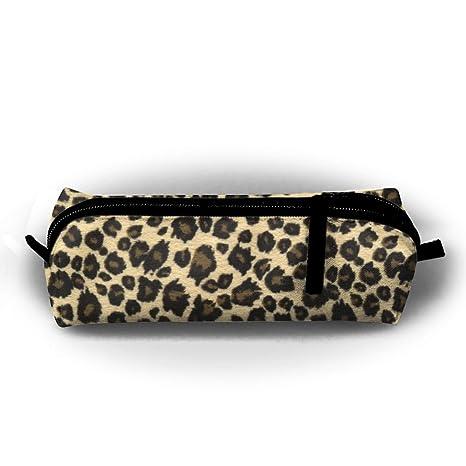 Estuche con diseño de leopardo para estudiantes, bolsa de ...