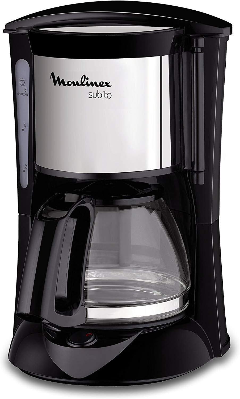 Moulinex Fg150813 Subito Kaffeemaschine 6 Tassen Schwarz Edelstahl