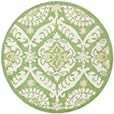 Safavieh Chelsea Collection HK356B Hand-Hooked Green and Beige Premium Wool Round Area Rug (3′ Diameter) Review