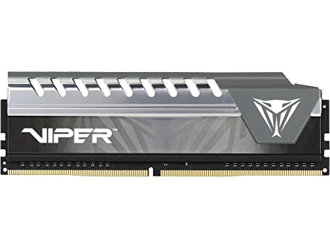 Viper Elite DDR4 2666 8GB (2x4GB) C16 Kit de Memoria Alto Rendimiento XMP 2.0 Negro/Gris PVE48G266C6KGY