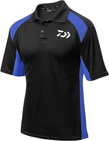 Daiwa Polo - Camiseta de pesca, color negro y azul, tamaño medium: Amazon.es: Deportes y aire libre