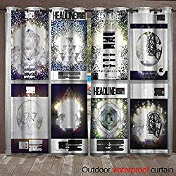 BlountDecor Blackout Curtain Business templates Set for brochure Flyer or Booklet Abstract Multicolored Waterproof CurtainW120 x L96