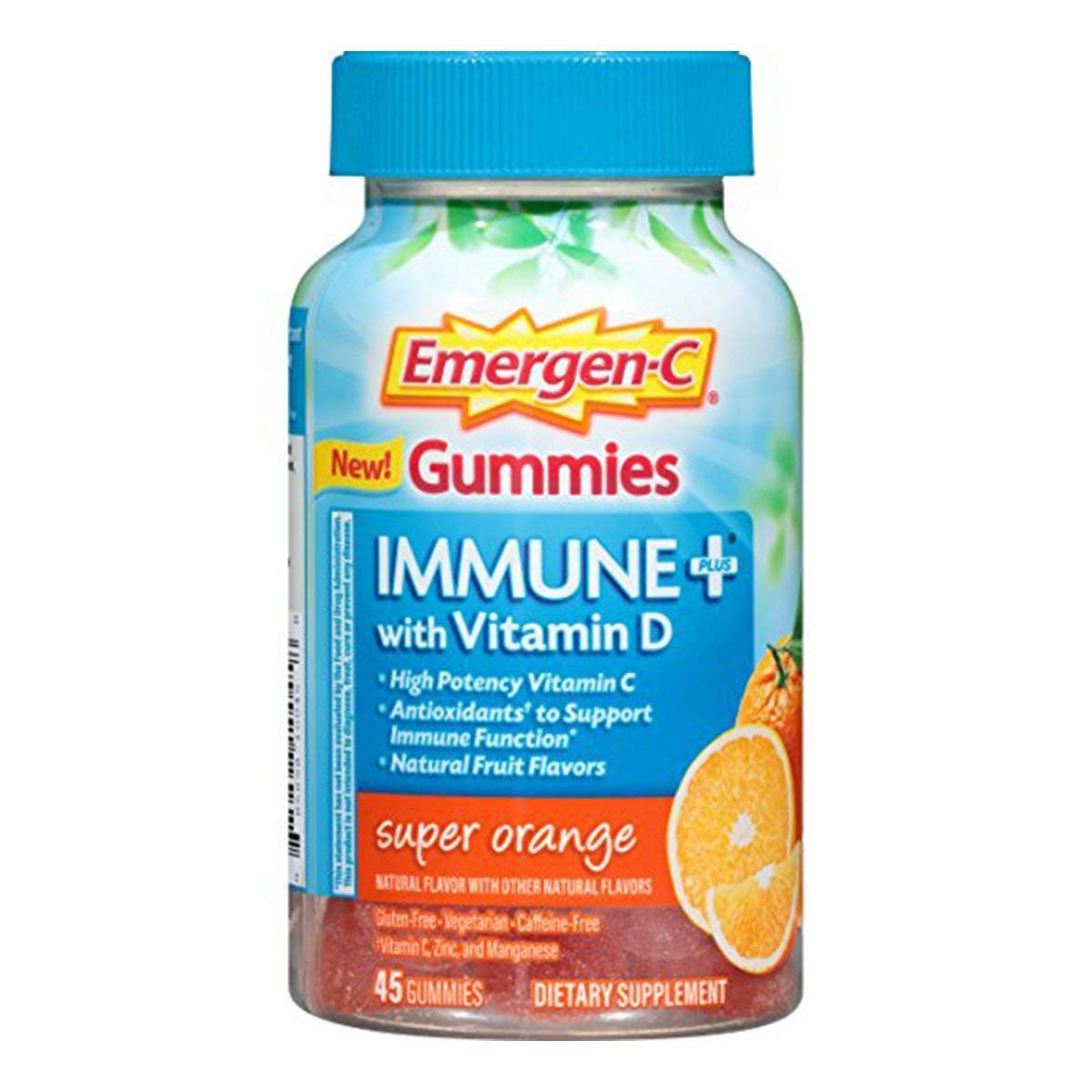 Emergen-C Immune+ Gummies (145 Count, Super Orange Flavor) Immune System Support with 500mg Vitamin C Dietary Supplement, Caffeine Free, Gluten Free (Super Orange, 145 Count)
