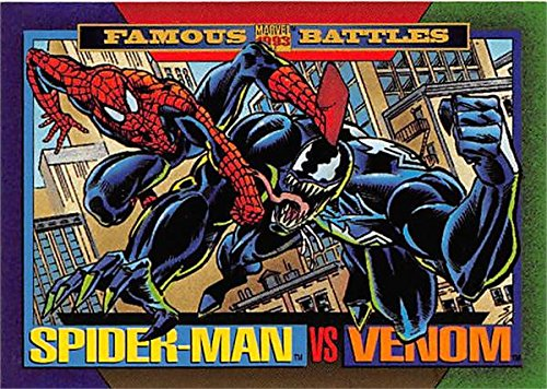 (Spiderman versus Venom trading card 1993 Marvel Impel #152 )