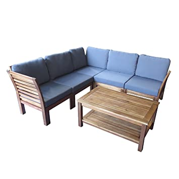 Gartenlounge aus holz  Amazon.de: Loungemöbel Holz OUTLIV. Bogota Loungemöbel Outdoor 6 ...