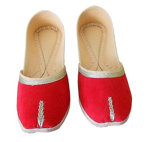 Kalra Creations - Mocasines de Terciopelo para mujer, color Rojo, talla 41 EU: Amazon.es: Zapatos y complementos
