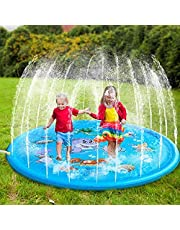 Harddo Splash Splash speelmat, voor outdoor drink- en splash speelmat, opblaasbaar waterspeelgoed, voor kinderen, peuters en kinderen