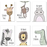 6 Pack Pictures Animals Nursery Baby Room Decoration Picture Boy Girl Poster Forest Animals Safari Africa Animals Poster…