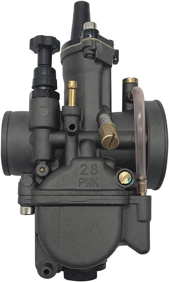 Couleur : PWK34 Cyclist store Carburateur de Moto PWK 28MM 30MM PWK32 34 Noir KX100 KX125