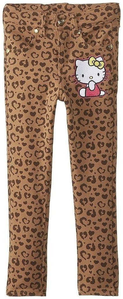 Hello Kitty Little Girls Leopard Print Denim Skinny Jean