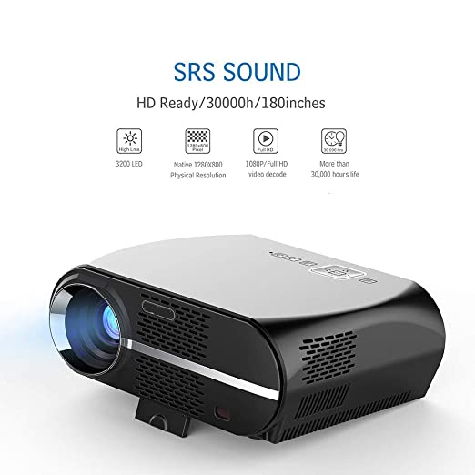 CWHALE Proyector, proyector de 3500Lumens LED GP100 UP HD WiFi ...