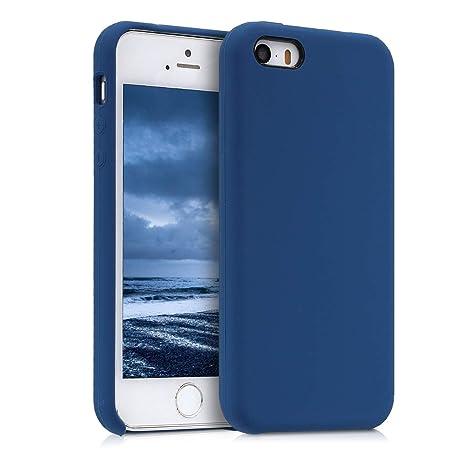 kwmobile Funda para Apple iPhone SE / 5 / 5S - Carcasa de [TPU] para teléfono móvil - Cover [Trasero] en [Azul Oscuro]