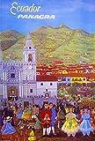 Ecuador Panagra South America Vintage Travel Art Poster Advertisement