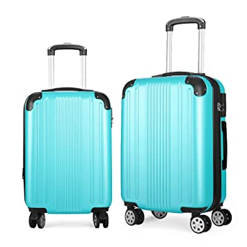 b9ab4d7f6121 Fochier 2 Piece Luggage Sets Expandable Lightweight Spinner Suitcase
