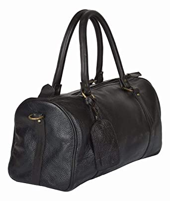 f57db2a3d9 Rayite Adult Hunter Buff Leather Duffle Bag Larger Black