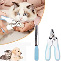 PawPawU Pet Nail Cutter Clipper Trimmer - with Quick Safety Guard to Avoid Over-Cutting Toenail - Grooming Razor Sharp Blades for Pets- Free Nail File
