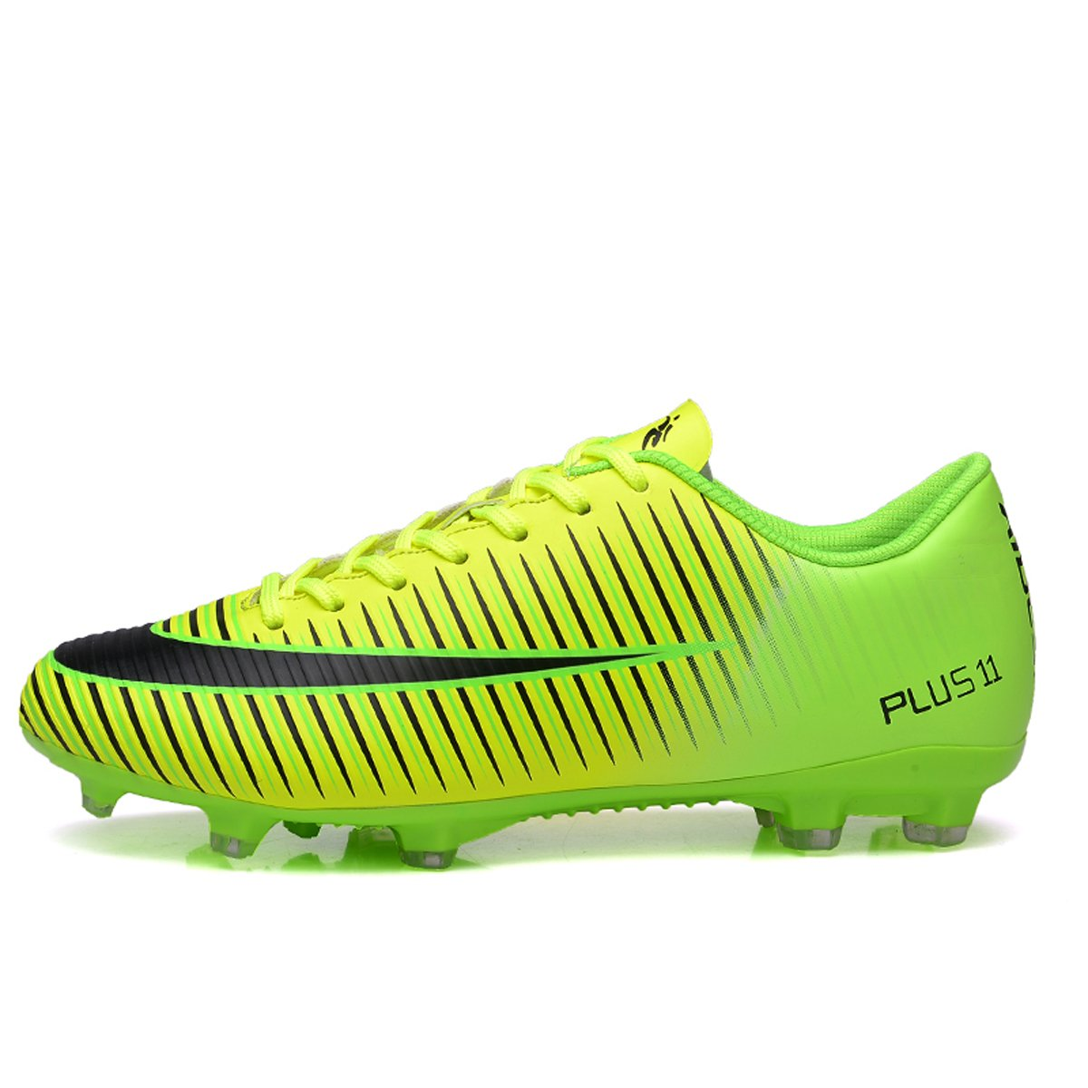 df2d78339 BADIER Kids Soccer Shoes Men Indoor Outdoor Football Boots Athletic Turf Mundial  Team Cleat Running Sports Anti-Skid Damping Shoes Green 46  Amazon.co.uk   ...