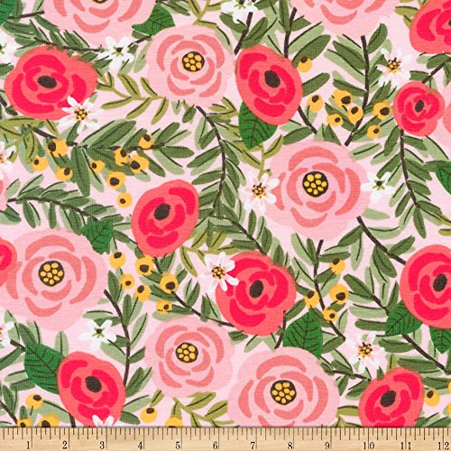 Jersey Knit Print Fabric - Robert Kaufman Laguna Jersey Knit Prints Flowers Pink Fabric by The Yard