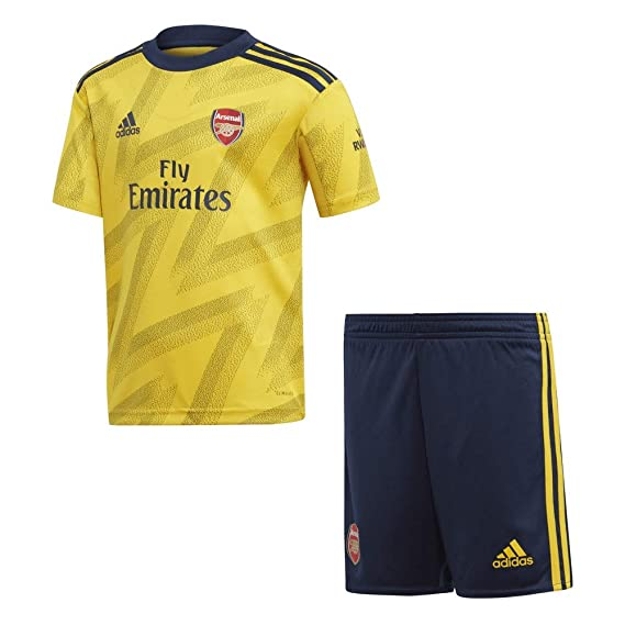 wholesale dealer c9901 c8475 adidas Arsenal 2019/20 Junior Kids Football Away Mini Kit Yellow