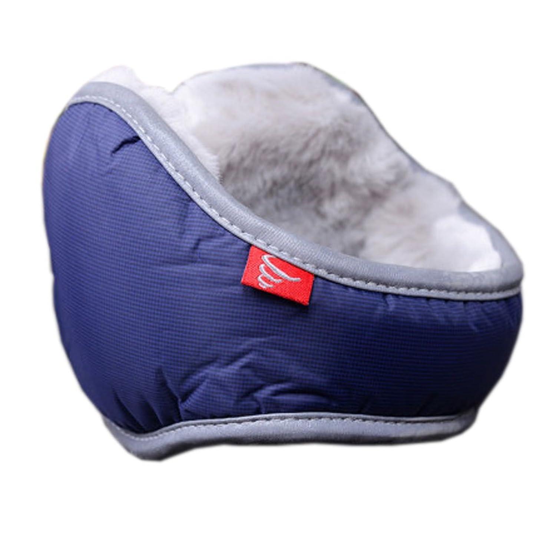 Warm Plüsch Ohr-Wärmer Faltbare Earmuffs für Outdoor-Skifahren, Dunkelblau