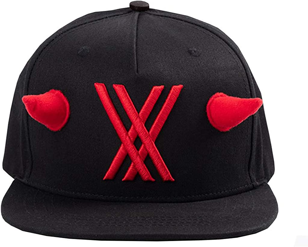 Unisex Darling in The FRANXX Zero Two Code 002 Cosplay Hat Baseball Cap Snapback Red