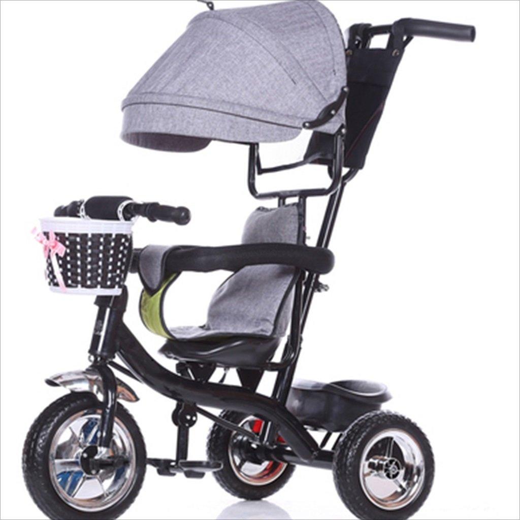 子供の屋内屋外の小さな三輪車自転車の男の子の自転車の自転車6ヶ月-6歳の赤ちゃん3つのホイールトロリー天井、固体プラスチックホイール (色 : 6) B07DVK4GWR 6 6