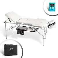 Camilla de masaje, 3 zonas, de aluminio, portátil