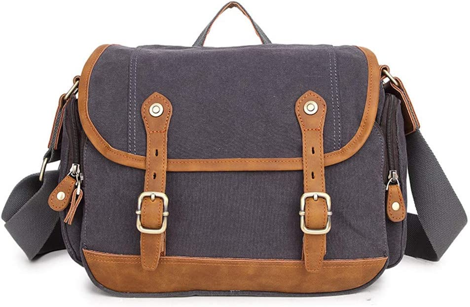 Crystalzhong-la Travel Cable Bag Canvas Camera Bag SLR Retro Camera Bag Messenger Mini Camera Liner Triangle Bag Color : Brown