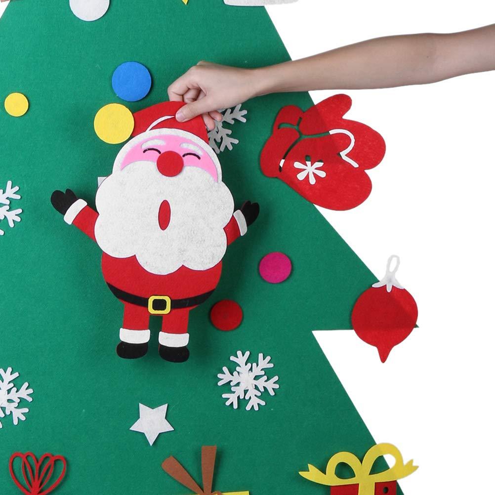 Toyvian Fieltro /Árbol de Navidad DIY /Árbol de Navidad Adornos Decoraci/ón de Pared ni/ños Santa Claus