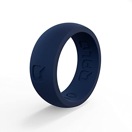 Amazoncom QALO Mens Functional Silicone Ring Classic Collection