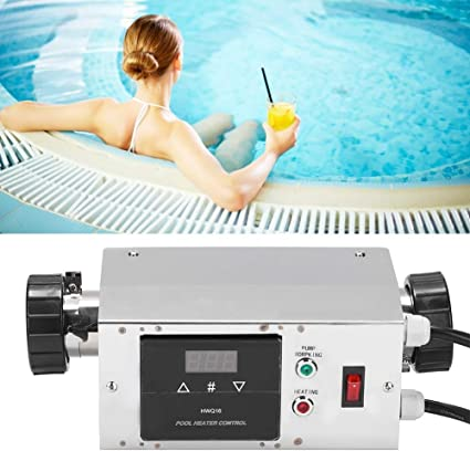 Nannday Electric Pool Heater 3kw 240v Waterproof Pool Water Heater Thermostat Swimming Pool Spa Hot Tub Pump Assistant Digital Thermostat Garden Outdoor