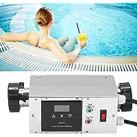 Naroote Termostato de Calentador de Agua, Productos Personalizados, Necesitan Hacer, para bañera SPA de Piscina, Acero Inoxidable 3KW Impermeable Inteligente Digital(EU)