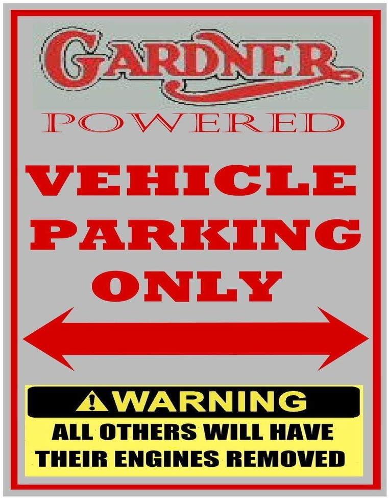 Bus Truck Lorry For Garage Man Cave Home Decor 8 X 12 PotteLove Vintage Aluminum Gardner Engine Vehicle Parking Only Fun Metal Sign Plaque