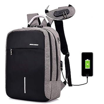SPAHER Antirrobo Mochila para Ordenador portátil de hasta 15.6 Pulgadas Laptop Backpack Mochilas Impermeables de Escuela de Negocios para computador ...